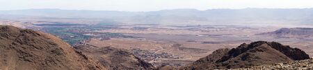 Panorama from mount near Todgha gorge in Morocco Standard-Bild - 97705725