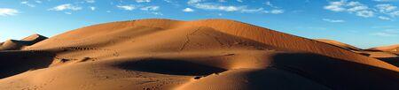 Dunes near Merzuga village in Morocco Standard-Bild - 97705758