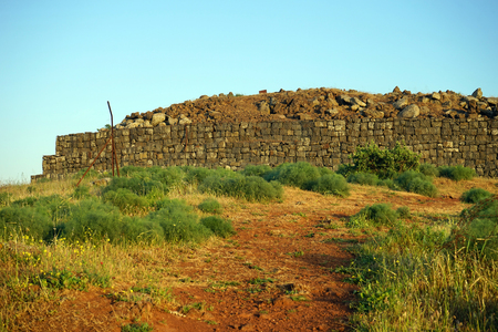 Old fort on the Bental mount in Golan Heights in Israel