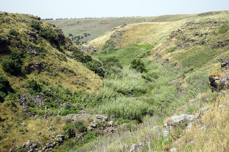 Gorge in Golan Heights in Galilee, Israel Stock Photo - 102895326