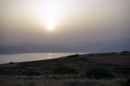Sunset and Kinneret lake in Galilee, Istrael