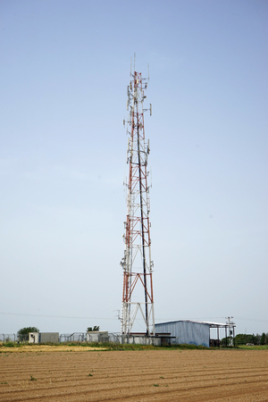 Antenna near farm field in Israel