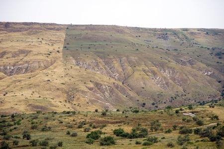 Mountain near Kinnereth lake in Galilee, Israel