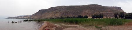 Mount Arbel near Kinneret lake in Galilee, Israel