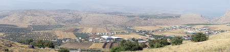 View from Hitim mount in Galilee, Israel