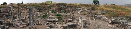 Ruins of Arbel sinagogue in Galilee, Israel Stock Photo - 102875261