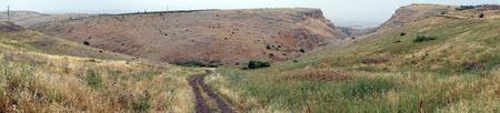 Track near Arbel mount in Galilee, Israel