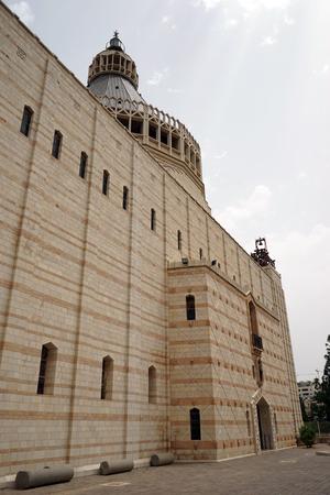 NAZARET, ISRAEL - CIRCA MAY 2018 Basilica of the Annunciation Editorial
