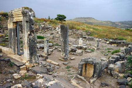 Ruins of Arbel sinagogue in Galilee, Israel Stock Photo - 103036254