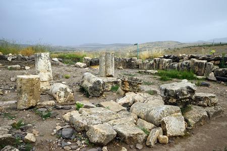 Ruins of Arbel sinagogue in Galilee, Israel