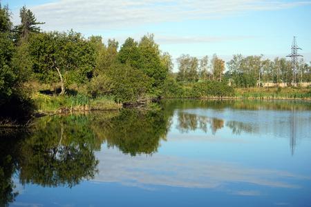 Forest lake in the Moscow region, Russia Archivio Fotografico - 108188708