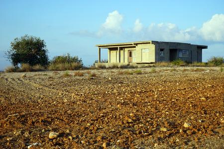 Plowed farmland in North Cyprus Stok Fotoğraf