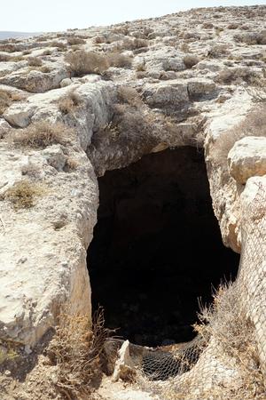 Big cave near mount Nebo in Jordan