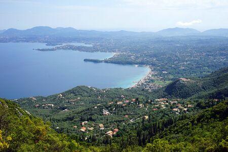 West coast of Corfu island, Greece Imagens