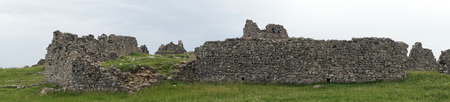 LEZHE, ALBANIA - CIRCA MAY 2019Panorama of ruins in old fortress Editorial