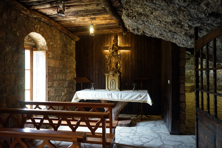 BSHARRI, LEBANON - CIRCA APRIL 2019 Inside Deir Mar Elisha monastery Sajtókép