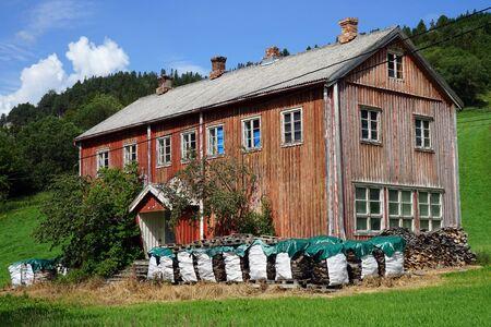 Wooden farm house in Norway 写真素材