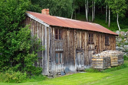 Wooden farmhouse in Norway