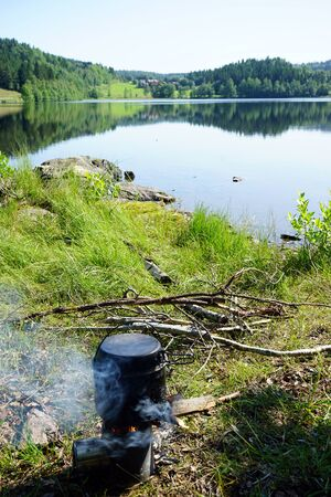 Stove on the laske in Norway 写真素材