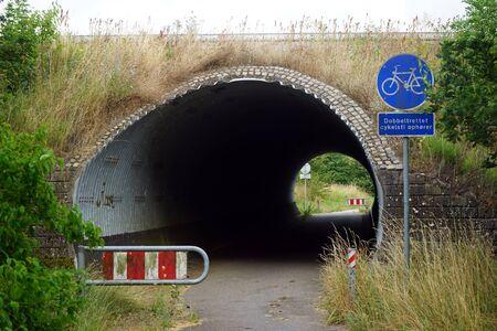 Tunnel under road in Denmark