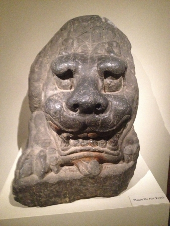 This guardian dragon is made from limestone and is from  a China Provence in the 6th century.
