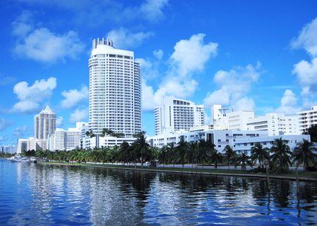 Miami Waterfront Modern Skyline                                Imagens