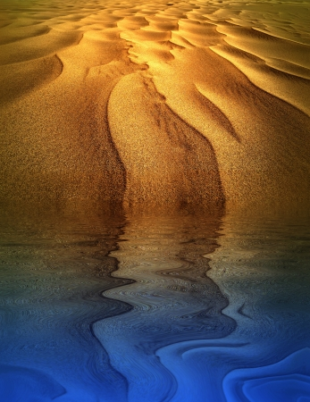 glint: Seco-h�medo desierto Foto de archivo