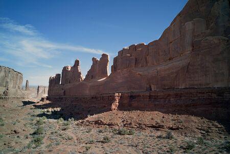Pustynny krajobraz. Arches National Park. Utah. USA. Zdjęcie Seryjne