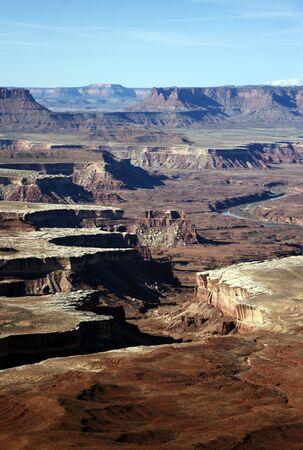 """Krajobraz Canyonlands, Utah, wczeÅ›nie rano tuż po wschodzie sÅ'oÅ""""ca. Zdjęcie Seryjne"""