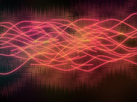 Abstract background red curves  Stock Photo