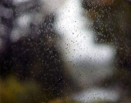 Krople Wody Na malowniczej oknie