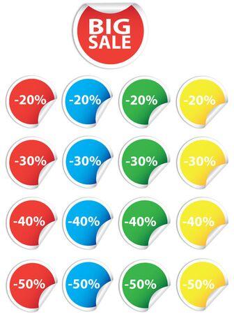 Set with price circles Illustration