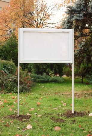 Billboard in garden blank stand