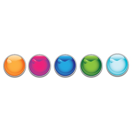 Glossy buttons Stock Vector - 16726407