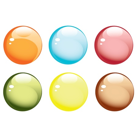 Glossy buttons Stock Vector - 16726409