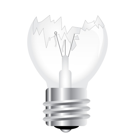 Broken light bulb Vector