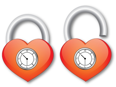 Heart with clock Illustration