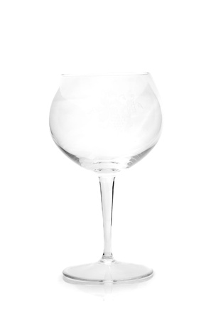 Crystal glass isolated on white background