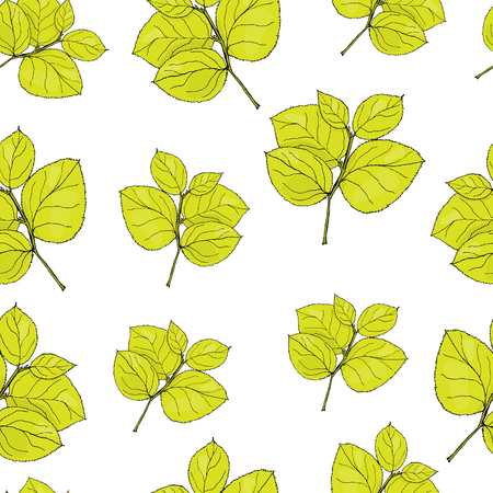 victorian wallpaper: Pattern hydrangea leaf. Illustration
