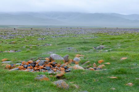 River under the stones in the valley on Altai, Russia