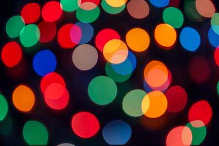 Abstract background with bokeh defocused lights and shadow background