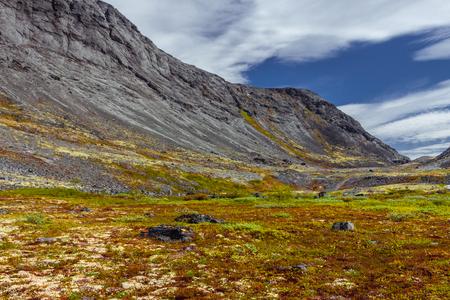 Mountain landscape, Khibiny mountains, Murmansk region in Russia. summertime