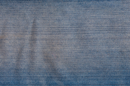 Texture of worn blue jeans for background