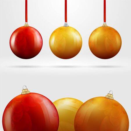 Christmas colored balls photo