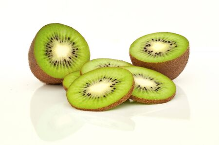 isolated kiwi Stock Photo