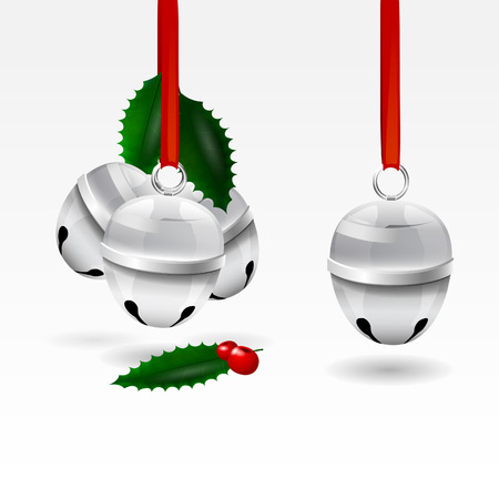 editable vector sleigh bells Illustration