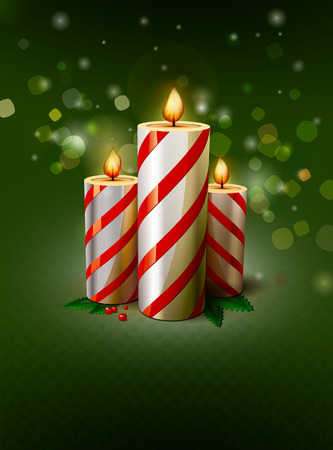 prickly: Christmas candle illustration