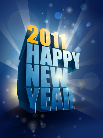 2011 Happy New Year card illustration Vector