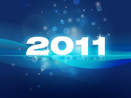 2011 New Year editable EPS 10 vector