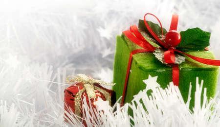 Christmas boxes card Stock Photo